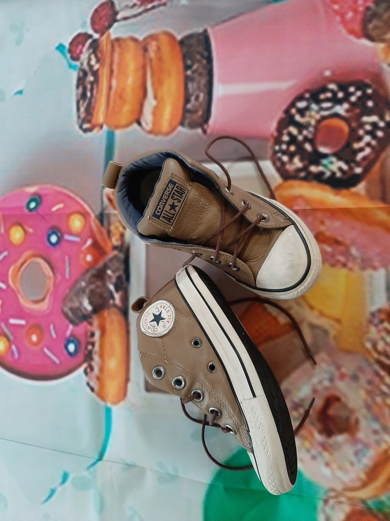 Converse skórzane trzewiki półbuty buty trampki 25