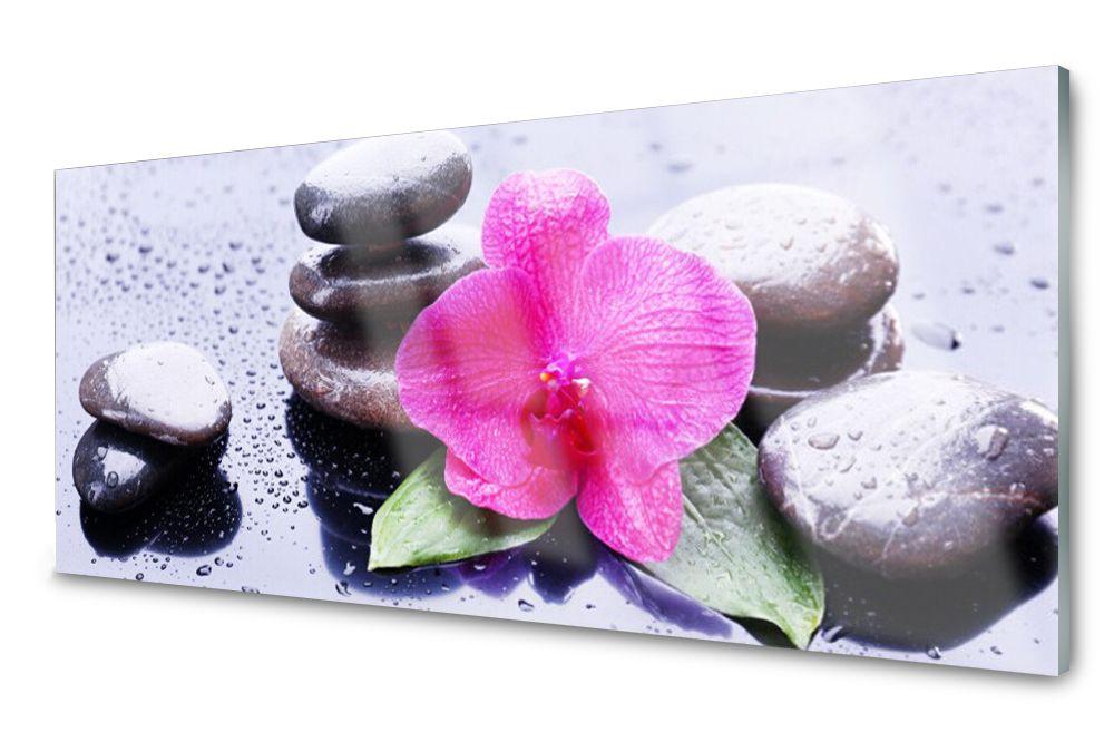 Lacobel Panel Szklany Ścienny Płytka Kwiat 120x60