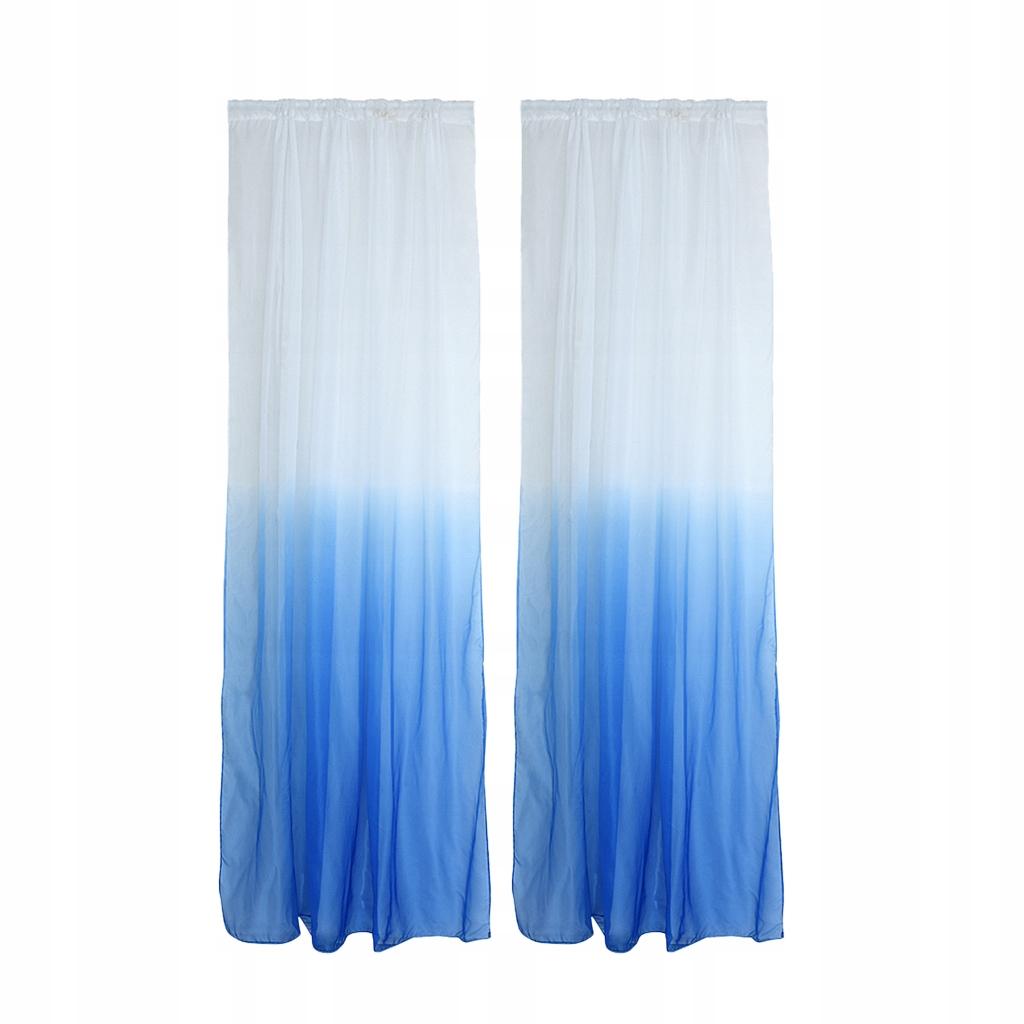 Zasłony okienne zasłony Valances - Niebieski
