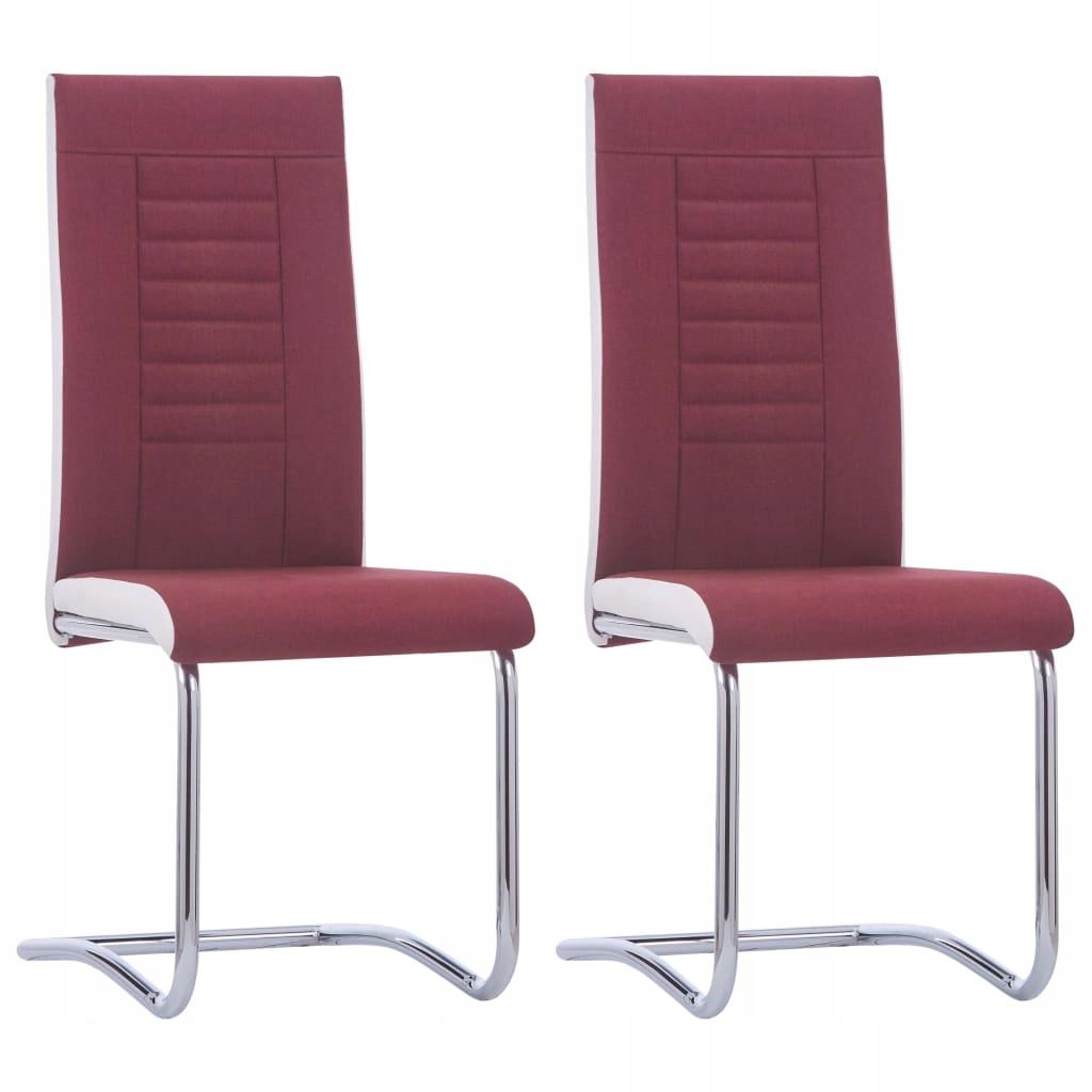 Krzesła stołowe, 2 szt., czerwone wino, tapicerowa