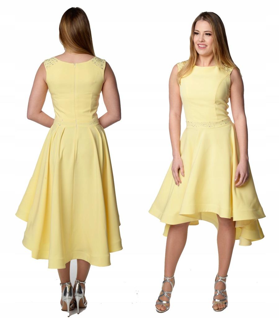 Camill 356 rozkloszowana sukienka na wesele 52