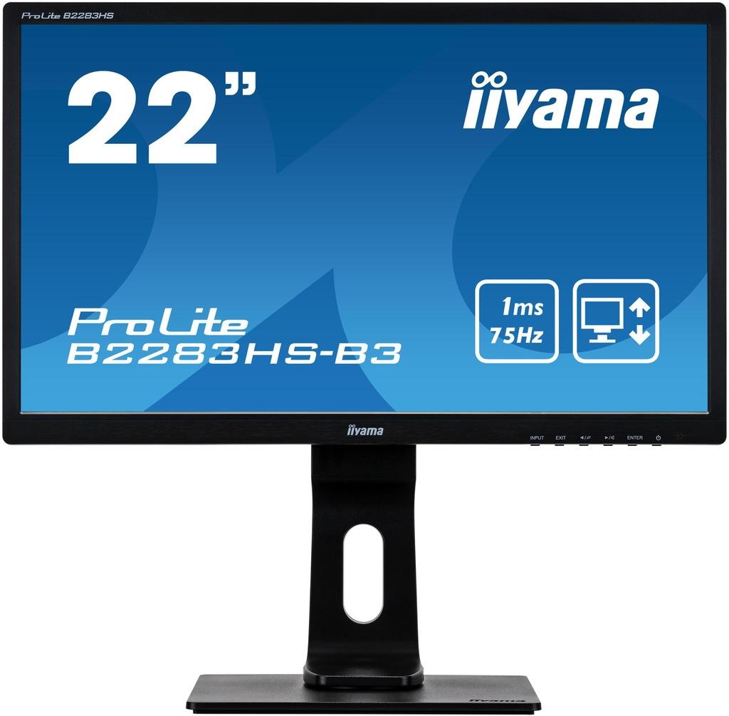 """Monitor iiyama 21,5"""" Prolite B2283HS-B3 Pivot"""