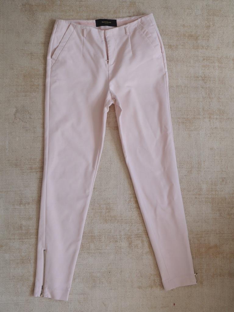 Spodnie cygaretki reserved pudrowy roz xs 34