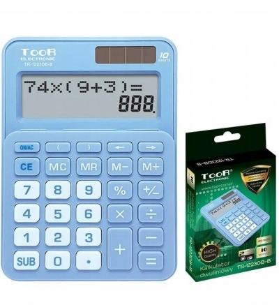 Kalkulator dwuliniowy 10-pozyc. TR-1223DB-B