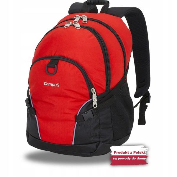 Plecak Campus Kornat 30 czerwony-czarny