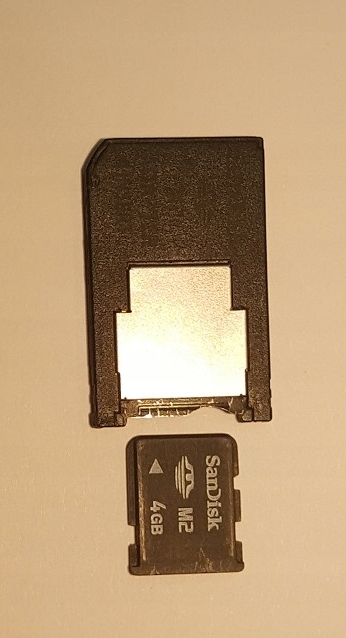 Karta pamięci M2 SanDisc 4 GB+adapter Memory Stick
