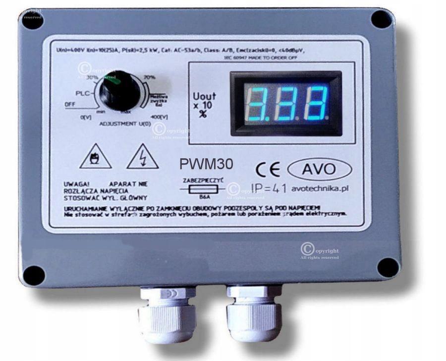PWM30 Regulator PWM silnika DC 12 24 30 180V 230V