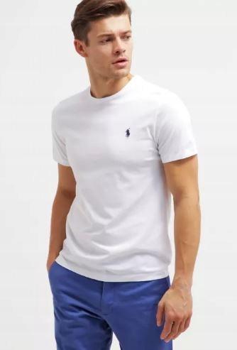 T-SHIRT Koszulka POLO RALPH LAUREN/BIAŁA NOWA L/XL