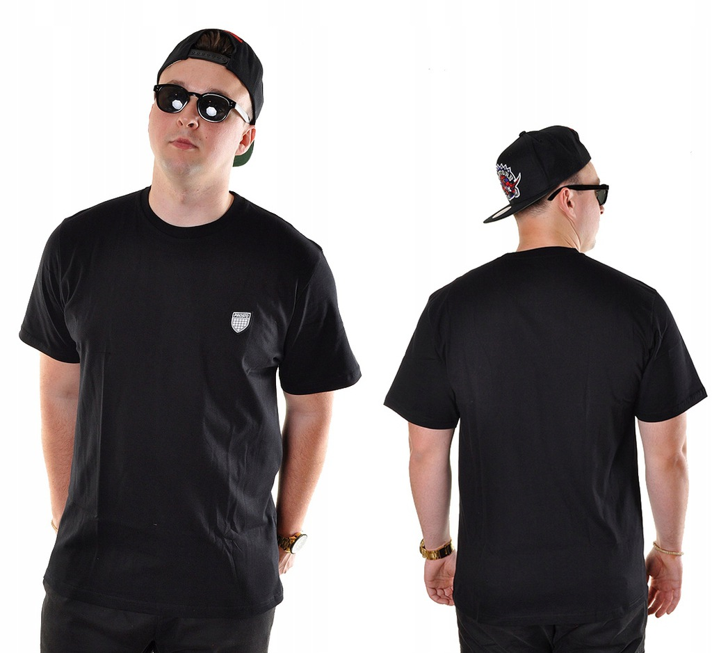 Koszulka L Prosto Klasyk JAQUARD II czarna