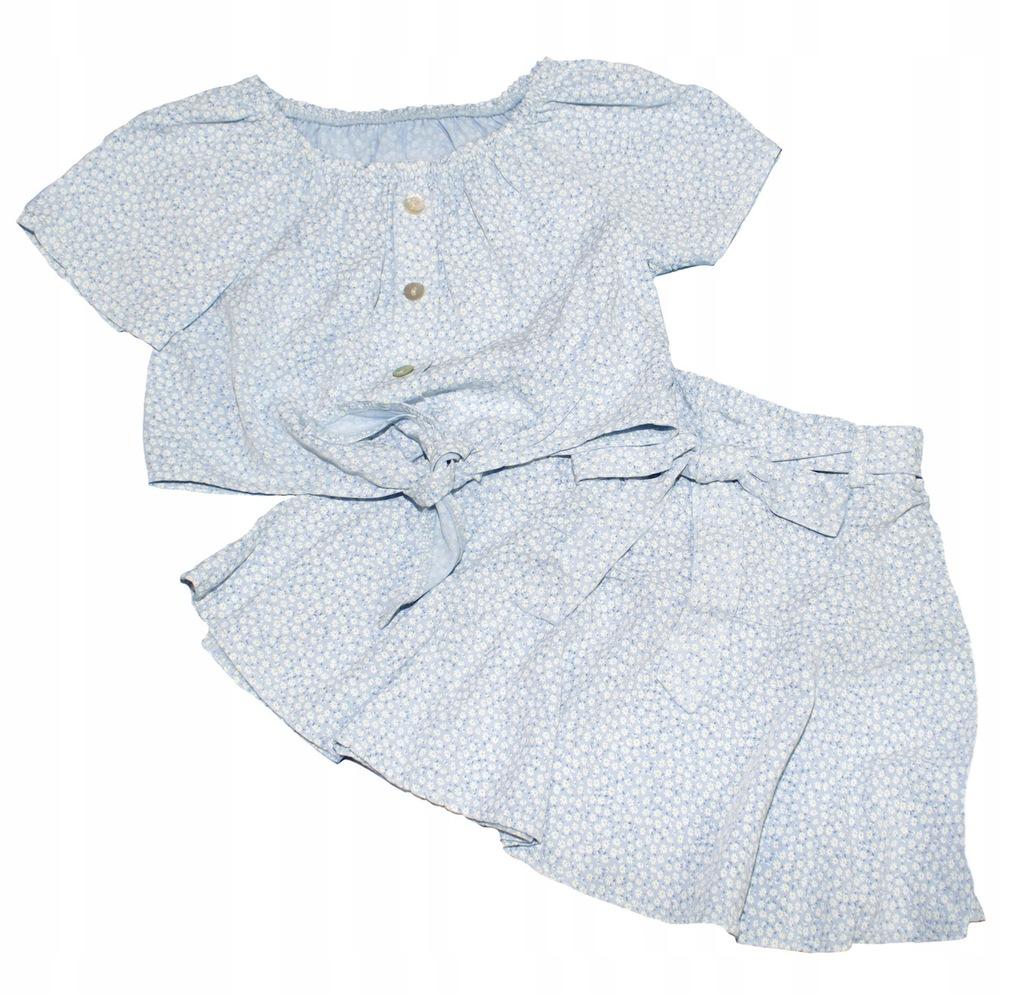 Komplet bluzka hiszpanka spódniczka 122-128 8