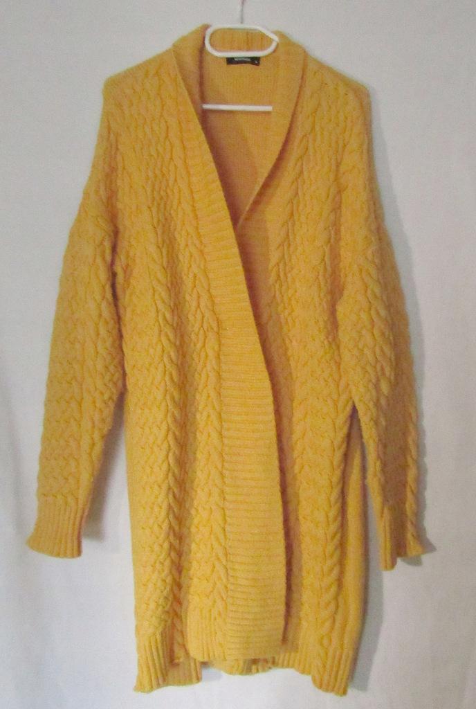 Kardigan żółty w warkocze RESERVED L/XL