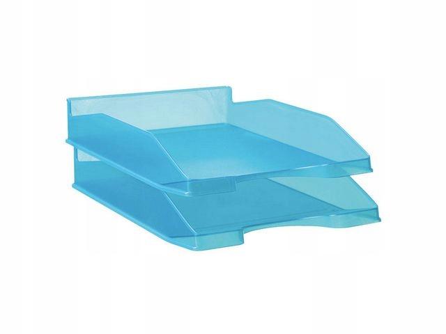 Półka Staples na dokumenty transparentna niebieska