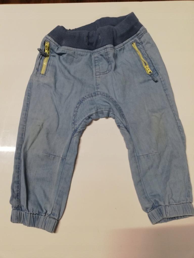 Wygodne spodnie niemowlęce Cool Club r. 74.