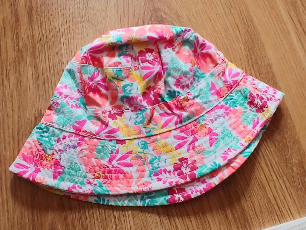 Cool club czapka kapelusz UV50+ r. 50cm kwiat Nowa