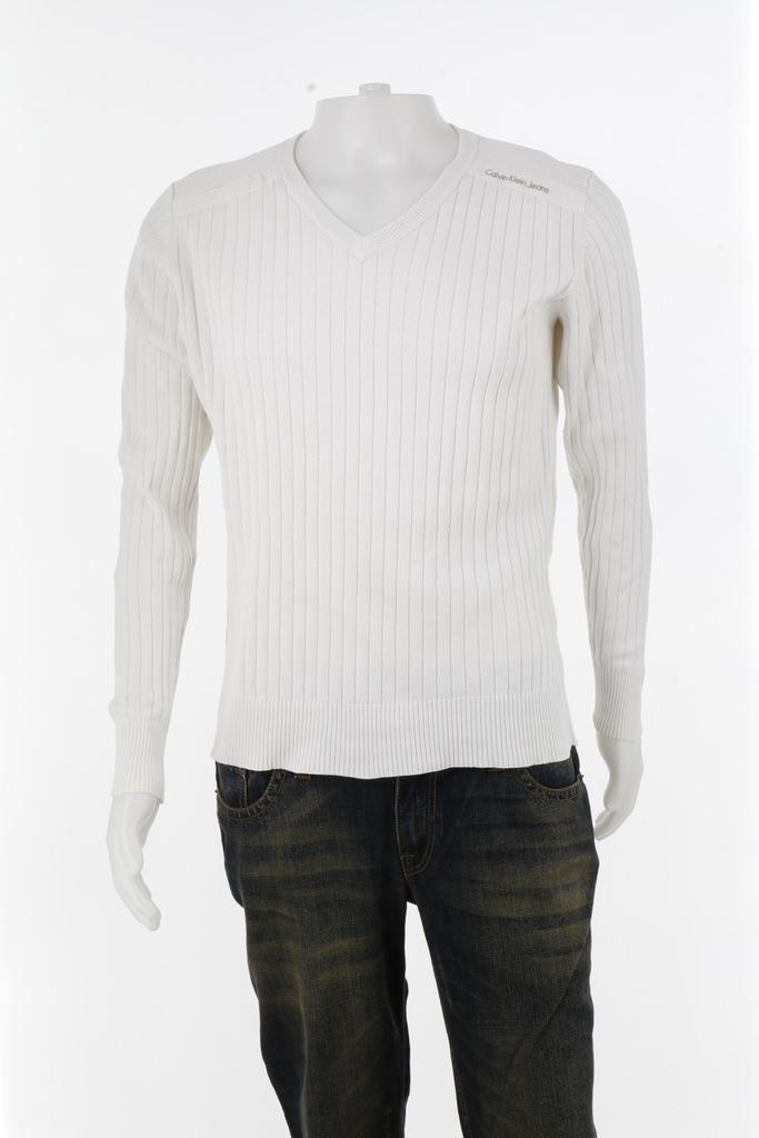 Calvin Klein bluzka bawełna biały R.S/M