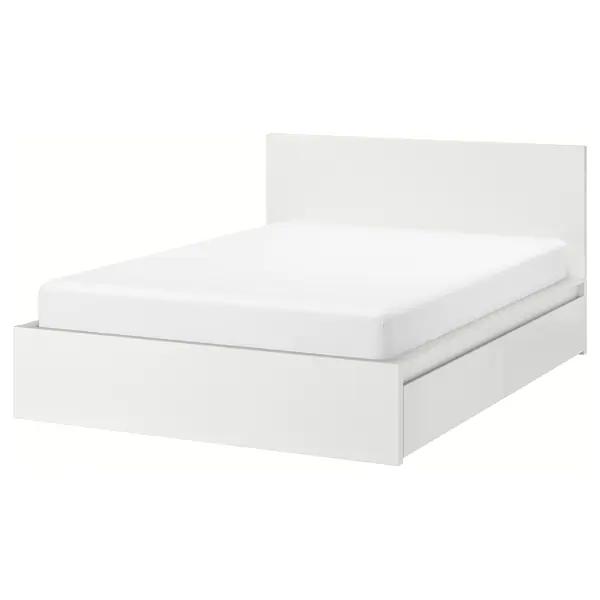 IKEA MALM Rama łóżka z 4 poj biały Lonset 160x200