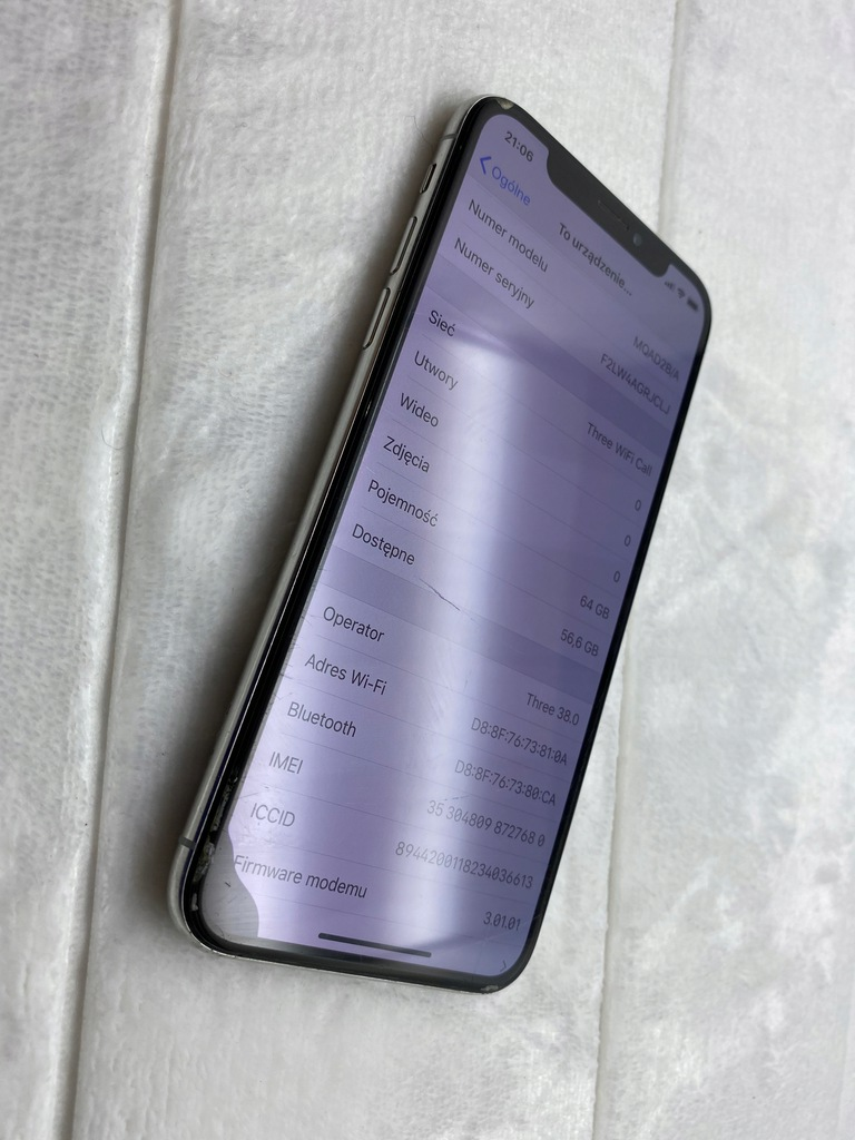 Apple iPhone X 64 GB BIALY 203/20