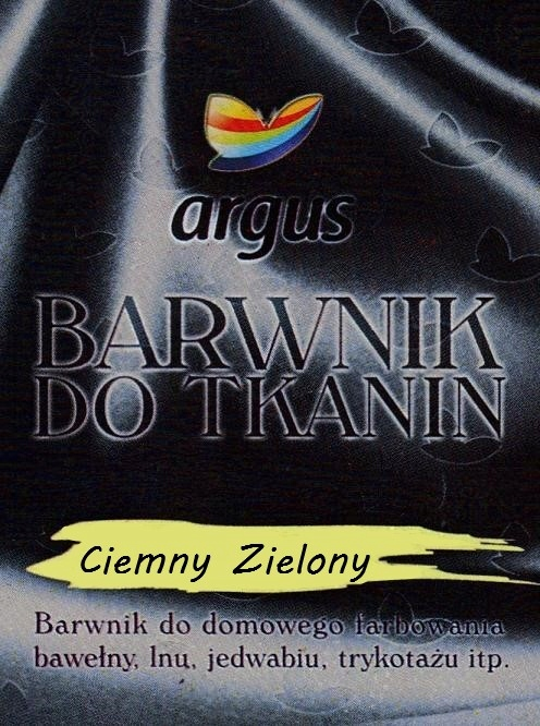 Barwnik do tkanin Argus do gotowania C. ZIELONY