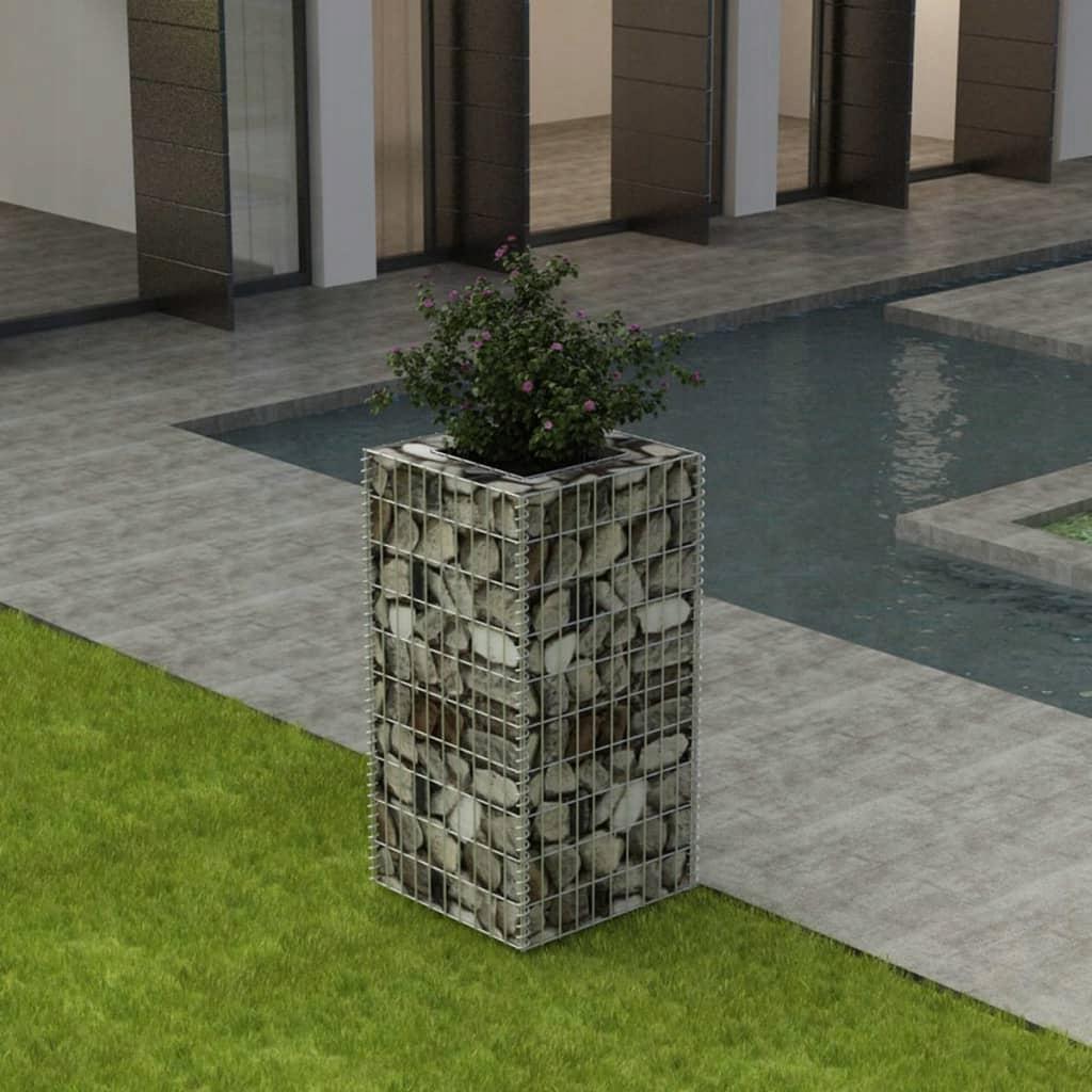 Donica gabionowa ze stali, 50x50x100 cm