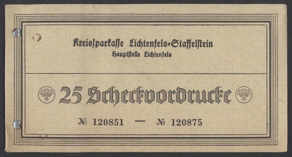 Niemcy - okładka książeczki czekowej sprzed 1941