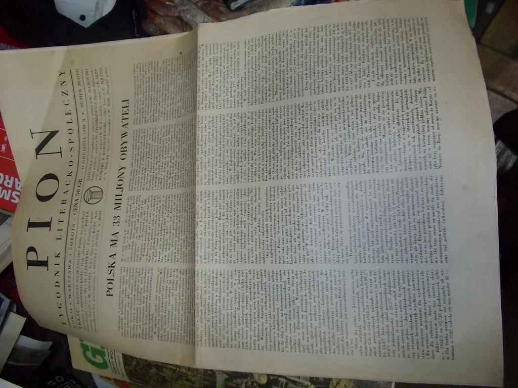 Stara Gazeta PION Cz. Miłosz 1935