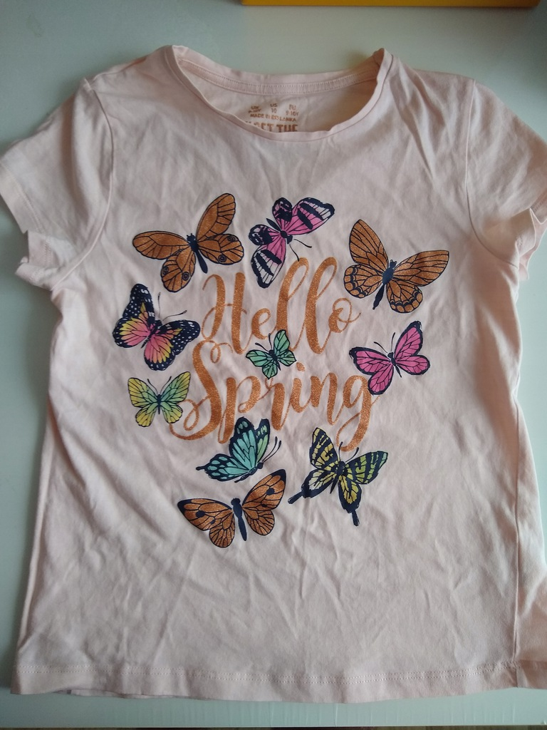 Bluzka z krótkim rękawem T-shirt F&F rozm. 140