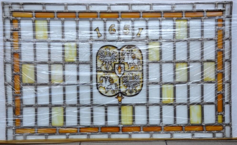 Witraż herb godło 1651 rok