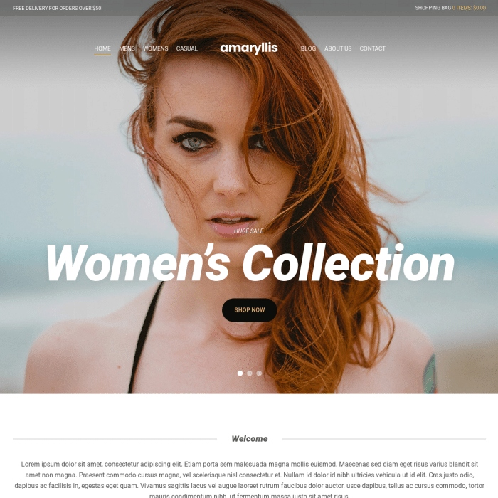 Szablon Amaryllis eCommerce Theme