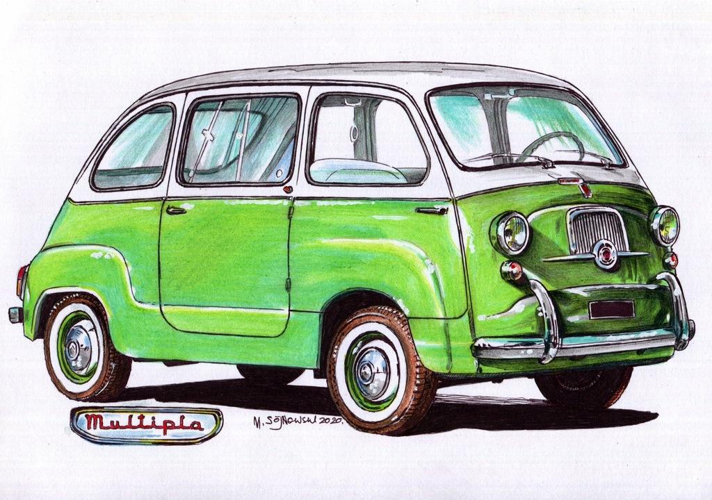 Pastel; Fiat 600 Multipla