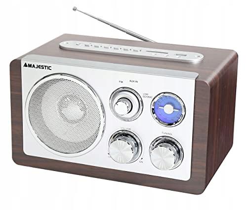RADIO MAJESTIC WR167AX FM MAŁE BRĄZOWE SREBRNE