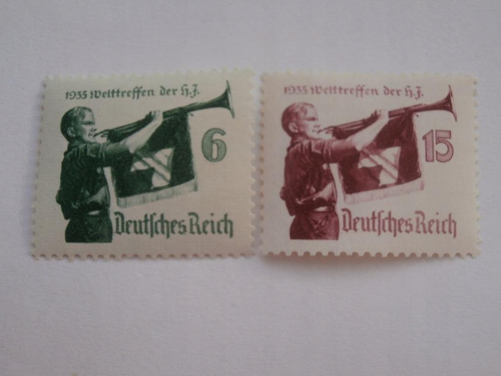 Niemcy - Zjazd HJ 1935 - Mi. 584-85 x **