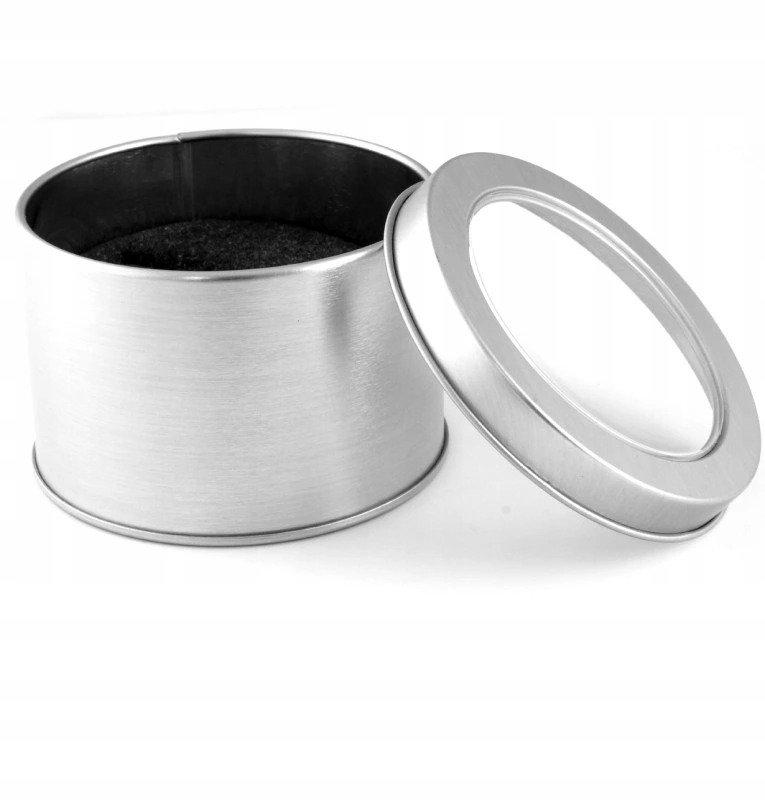 Pudełko puszka aluminium metalowe na zegarek ETUI