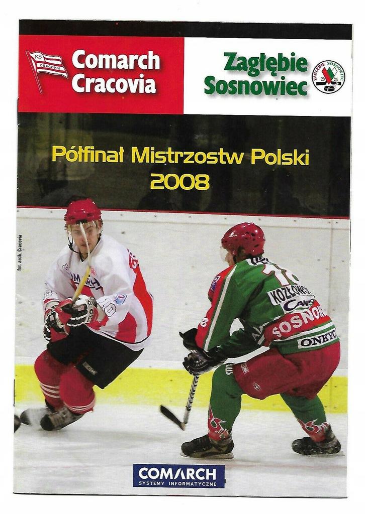 CRACOVIA - ZAGŁĘBIE SOSNOWIEC 2008 PÓŁFINAŁ HOKEJ