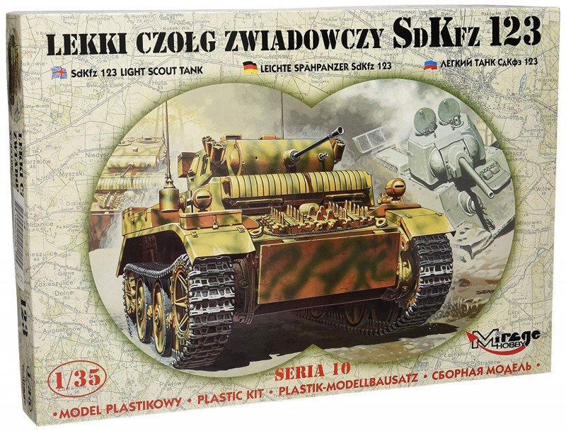 Model do sklejania Lekki czołg zwiadowczy SDKFZ 12