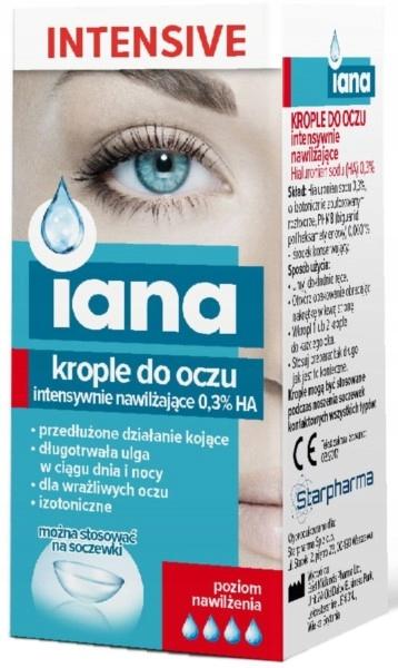Iana Krople Do Oczu Intensive 0,3% Ha Nawilżające