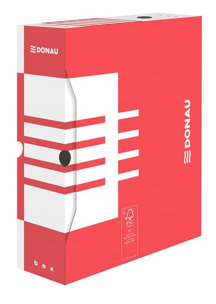 Karton archiwizacyjny Donau A4 100 mm czerwony