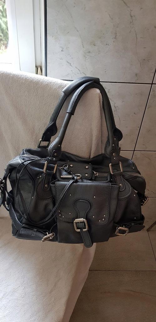 Chloe piękna torebka A4 skóra torebka z numerem