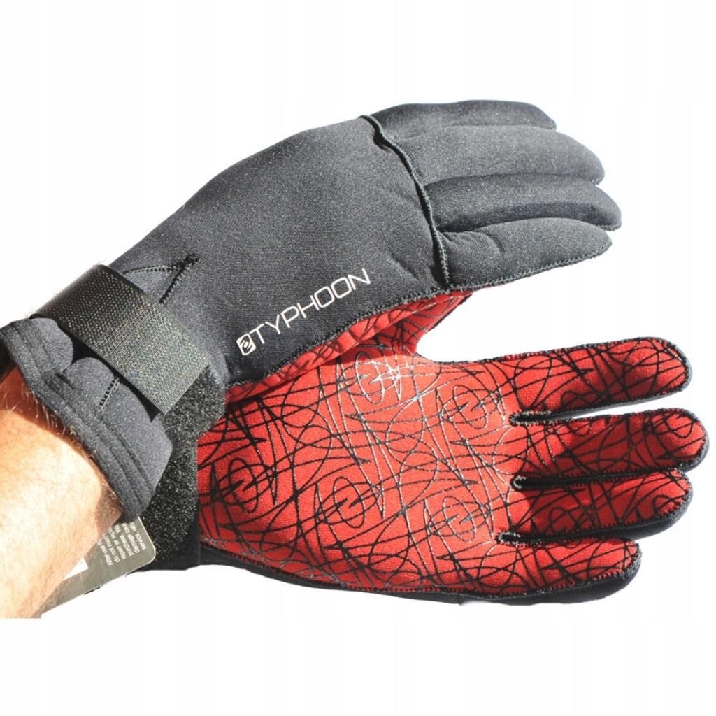 Rękawice neoprenowe 3mm TYPHOON do nurkowania M