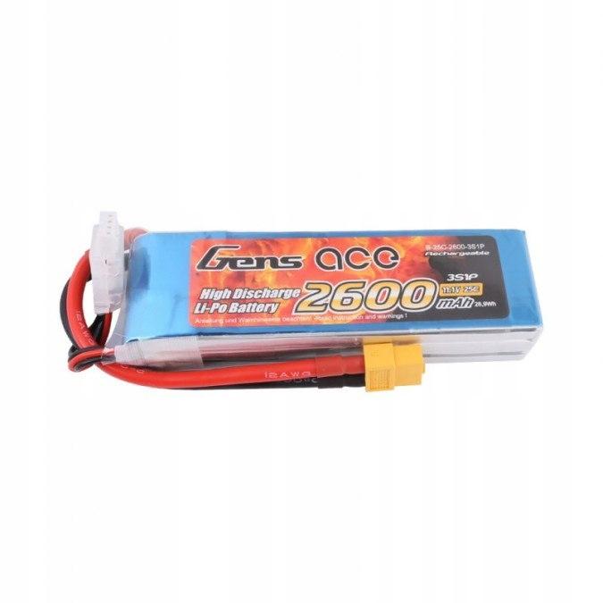 2600mAh 11.1V 25C Gens Ace XT60