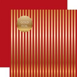 Papier 30x30 - Echo Park - Gold Foil Stripe