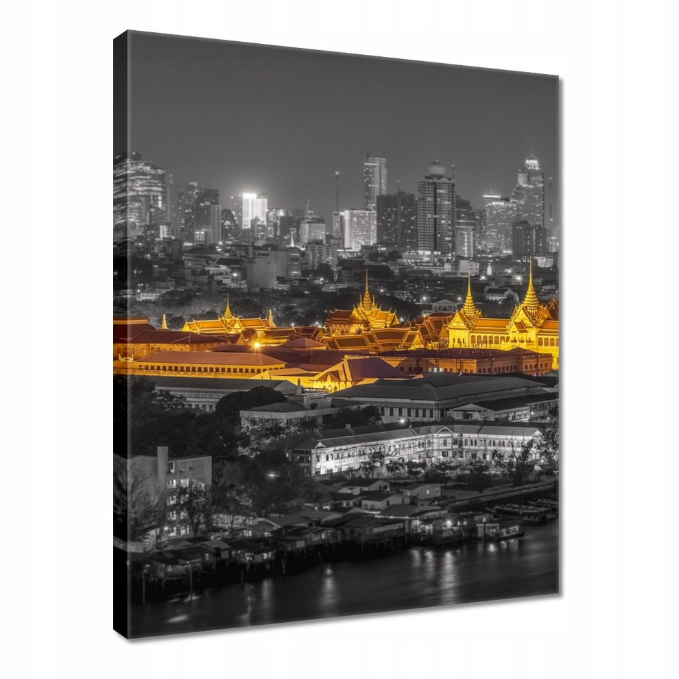Obrazy 60x80 Gold night in Bangkok
