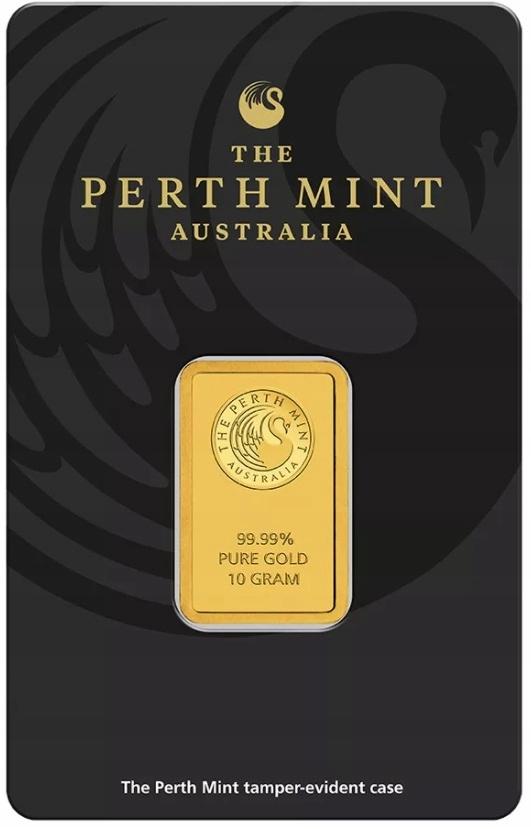 10 gram Au 99,99 - Sztabka Perth Mint