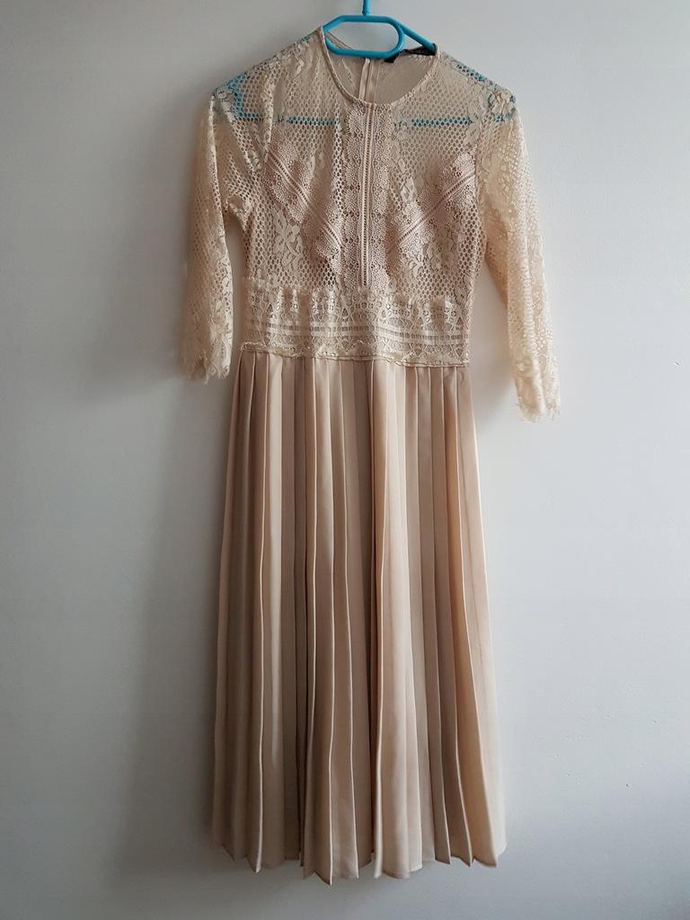 plisowana sukienka zara exclusive