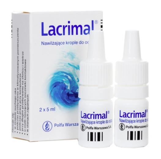 Apteczny Lacrimal Nawilżające krople do oczu 2x5ml