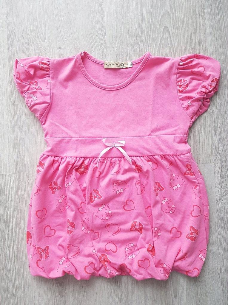 Tunika różowa rozm. 104 cm Hello Kitty
