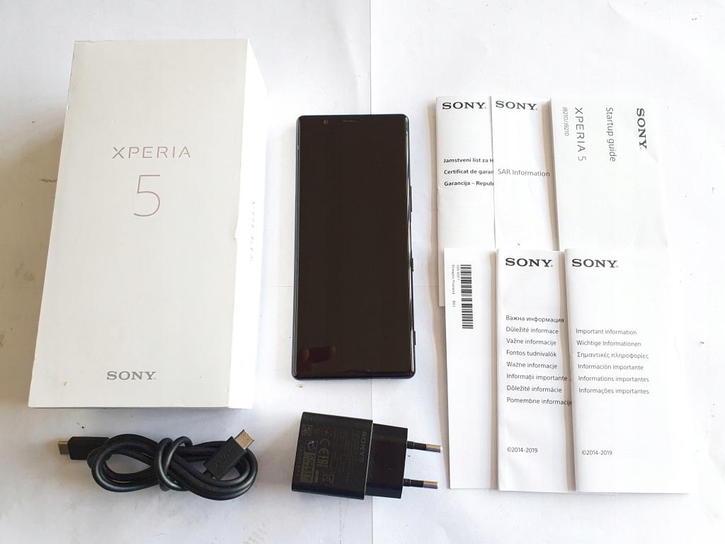 SONY XPERIA 5 J9210 128GB KOMPLET GWARANCJA BLACK