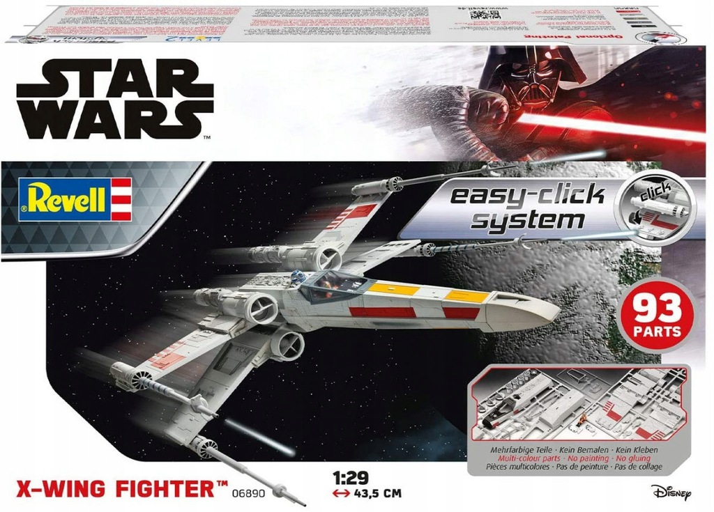 Model plastikowy Star Wars X-Wing Fighter Easy-Cli