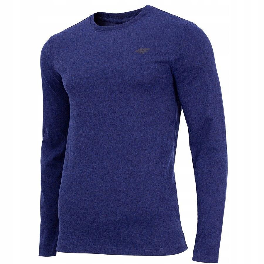 Koszulka Męska z długim rękawem 4F niebieska S