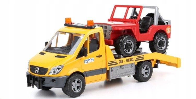 MB Sprinter pomoc drogowa Jeep laweta Bruder 02535
