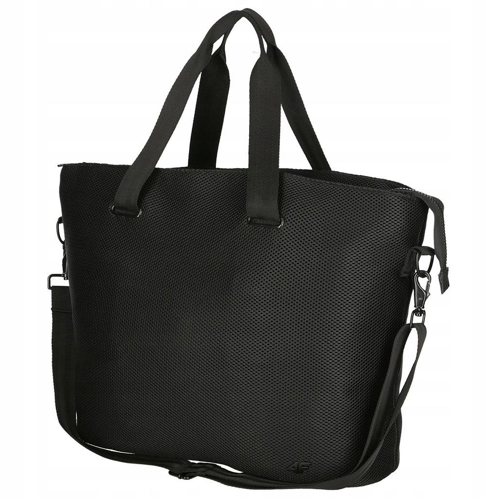 Damska torba ramię 4F TPU002 sportowa czarna 28L